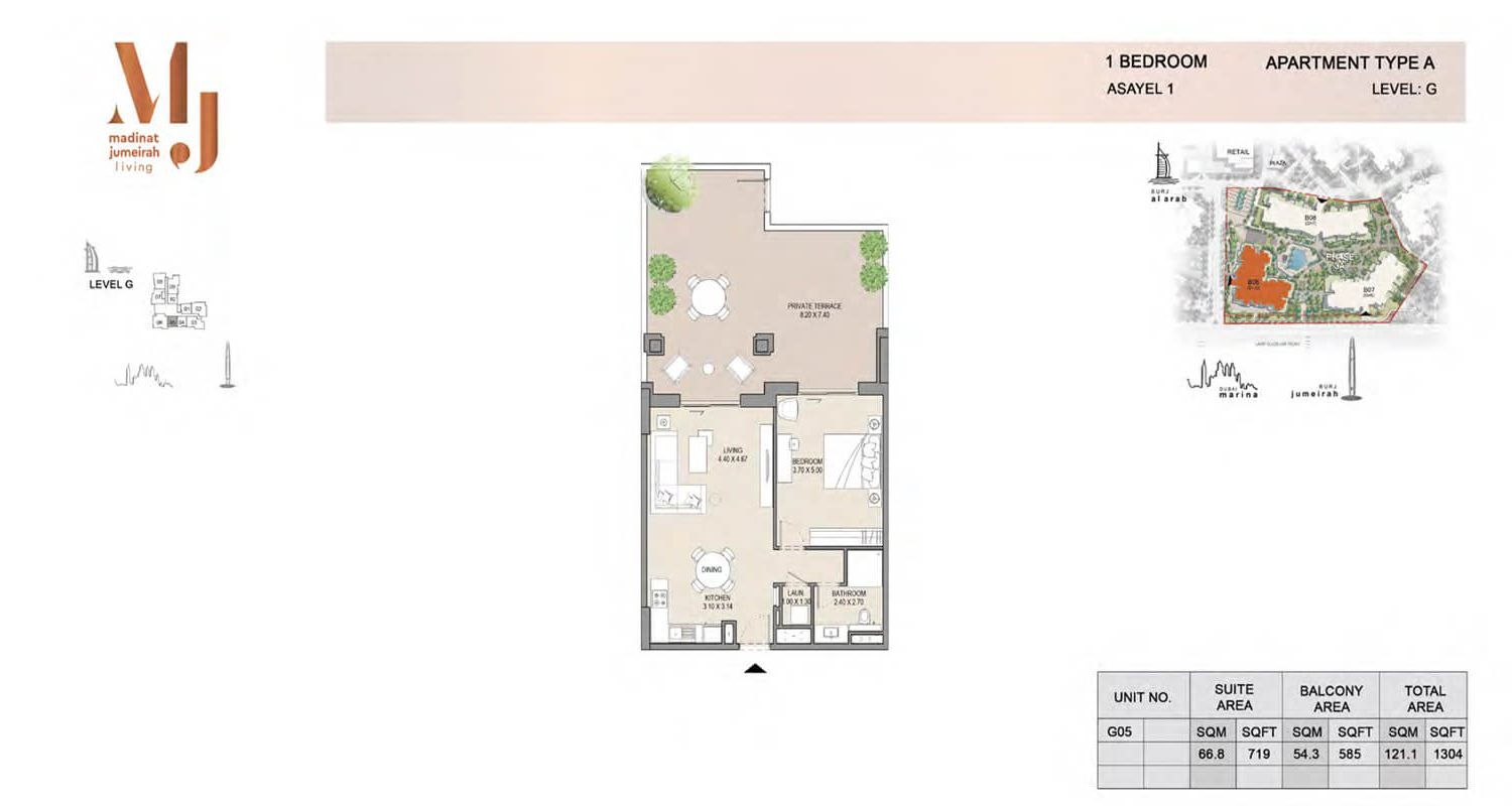 1 Bedroom Type A