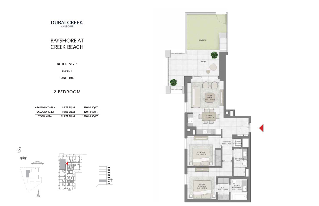 2-Bedroom-Building-2-Unit-106-Level-1-1310.94-SqFt
