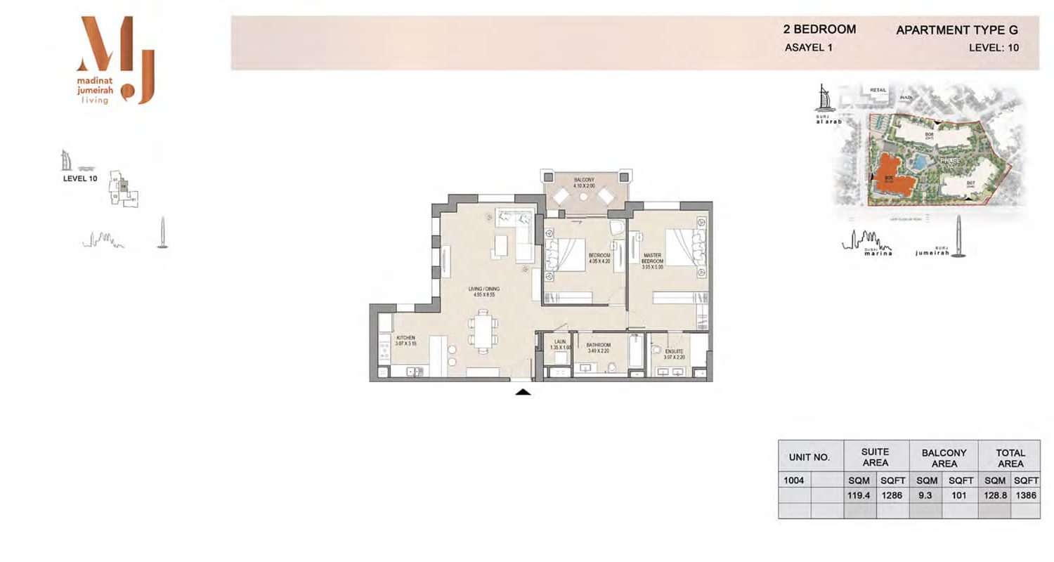 2 Bedroom Type G