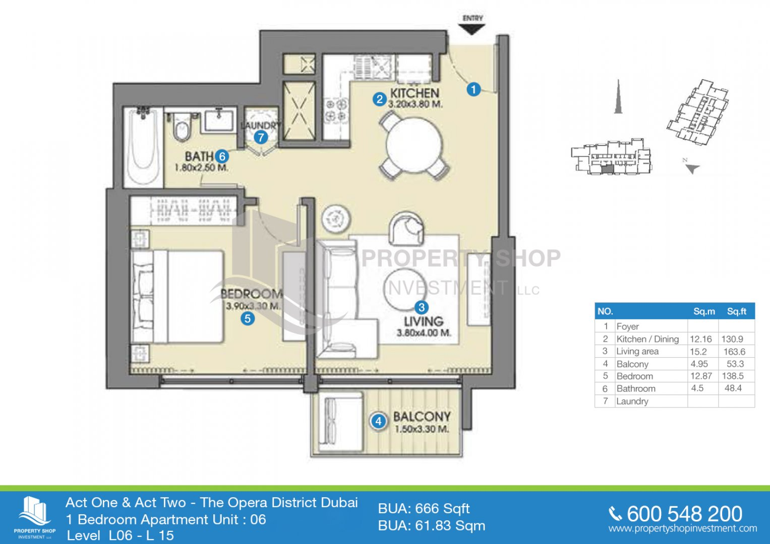 1 bedroom-unit-06-bua-666-sqft-act one-and-two-dubai
