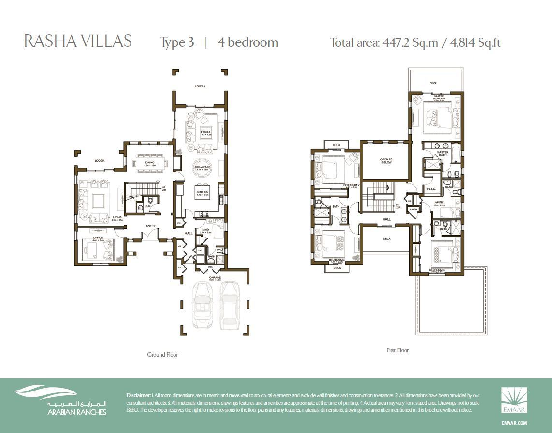 Rasha Villas Floor Plan 4BR