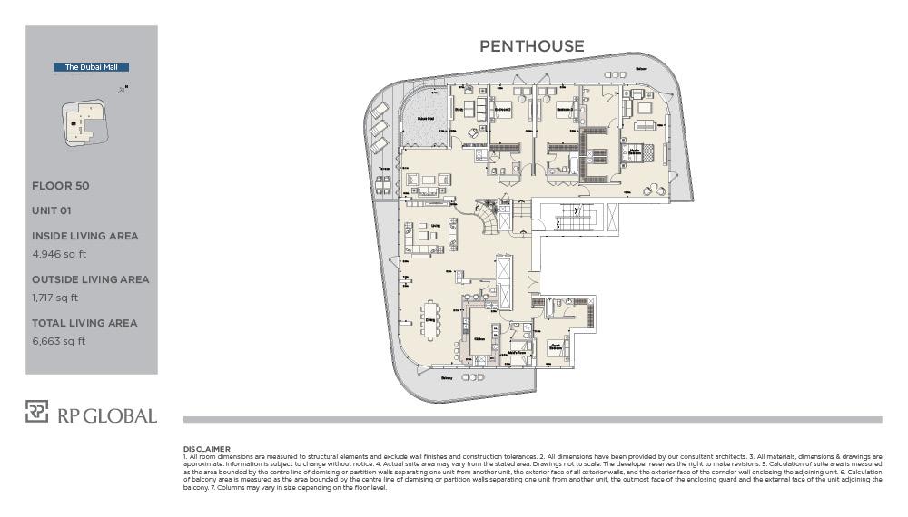 PENTHOUSE-UNIT 01-FLOOR 50-6663 sqft