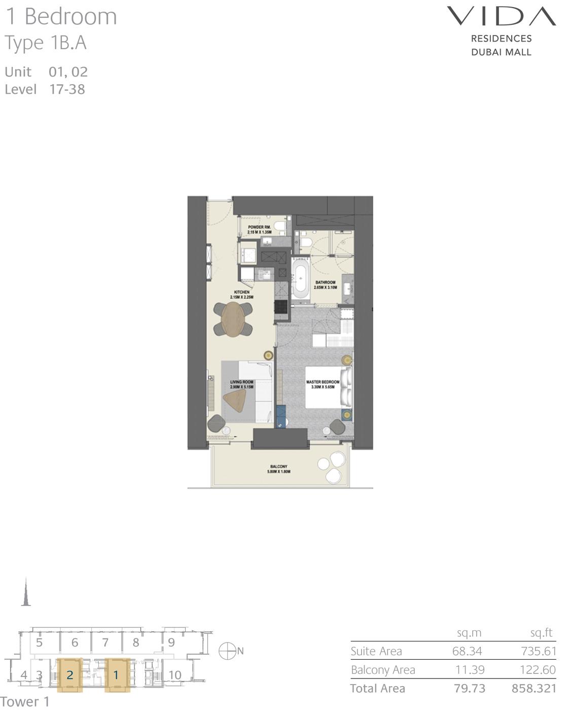 Tower 1 - Floor Plan