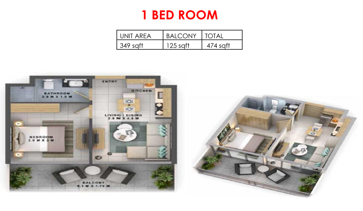 Reva Heights at Business Bay-1 Bedroom