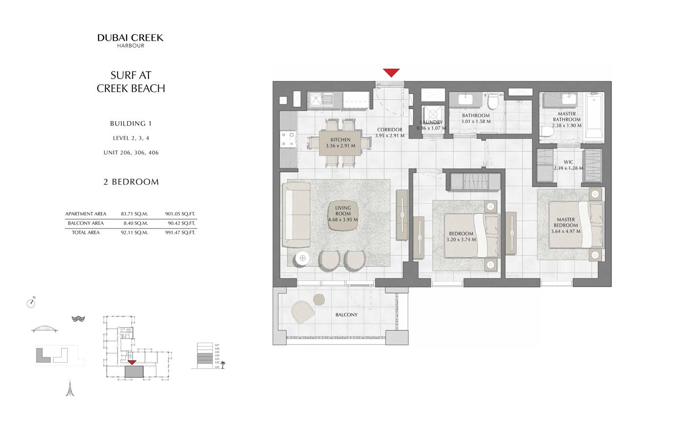 Building 1 - 2 Bedroom