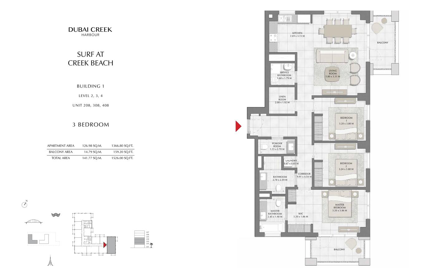Building 1 - 3 Bedroom