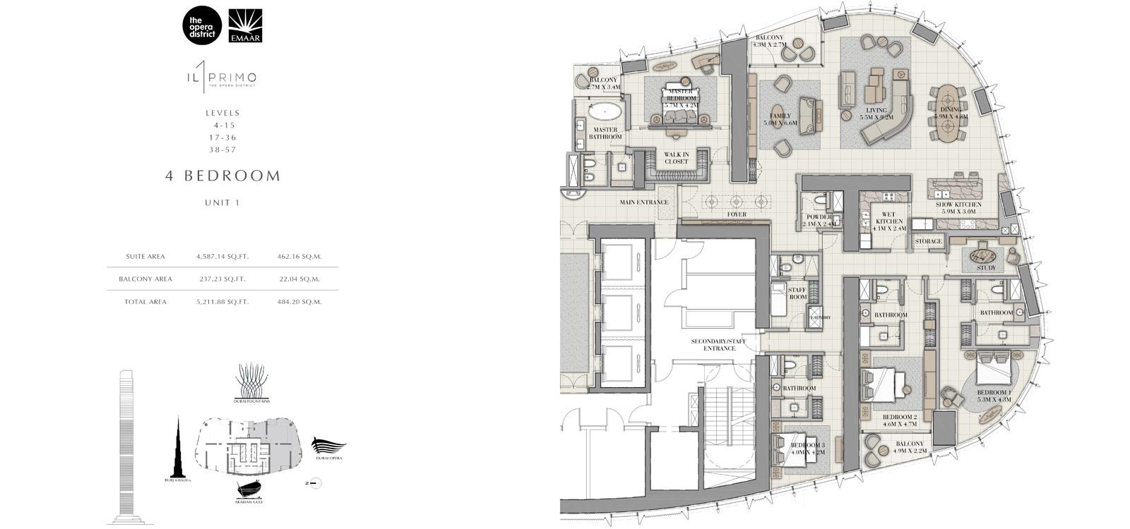 Il Primo Apartments at the Opera District
