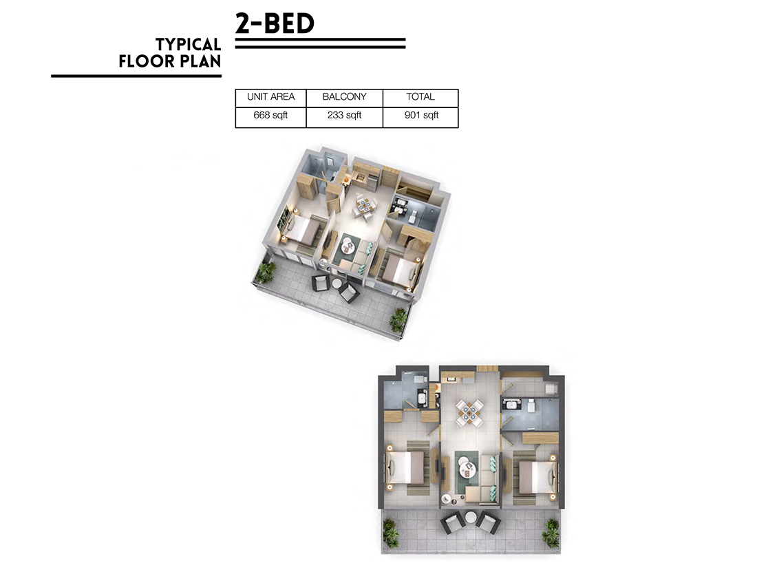Vera Residences at Business Bay-2 Bedroom