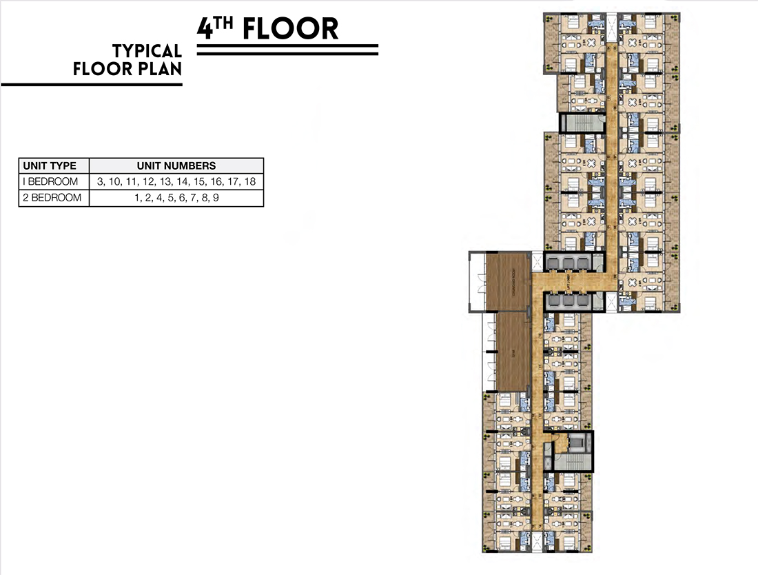 1 & 2 Bedroom Apartment 4th Floor