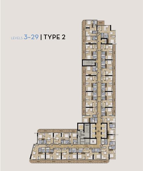 Typical Floor Plan Type 2, Level 3-29