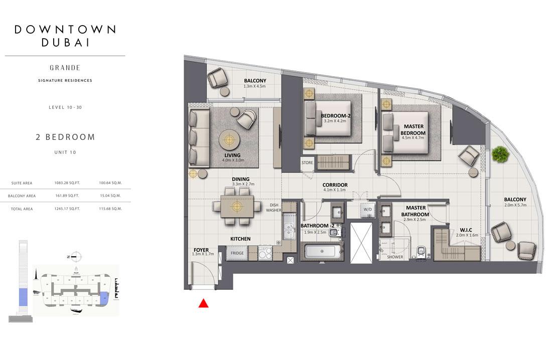 2-Bedroom-Level-10-30-Unit-10-Size-1245.17-Sq-Ft