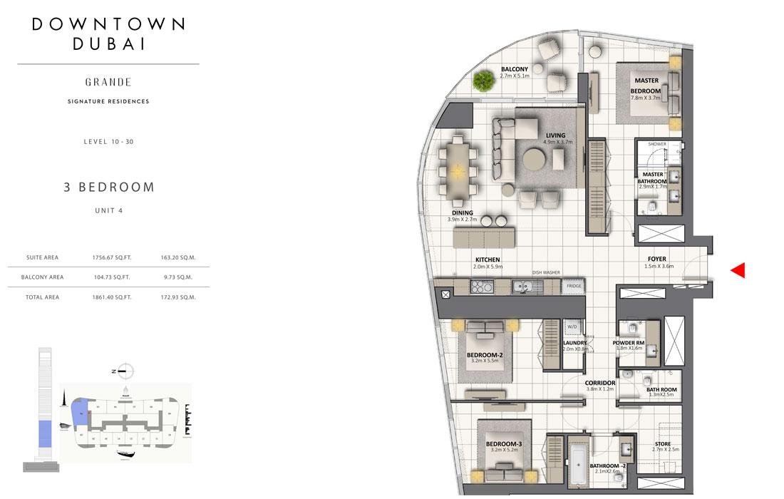 3-Bedroom-Level-10-30-Unit-4-Size-1861.40-Sq-Ft