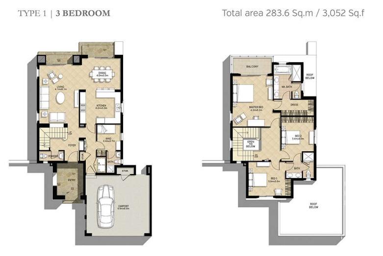 Azalea Villas Floor Plan Type 1