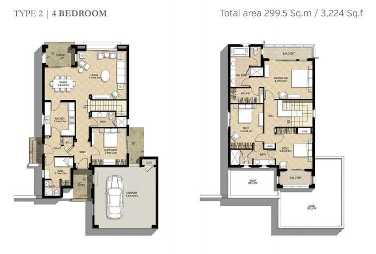 Azalea Villas Floor Plan Type 2