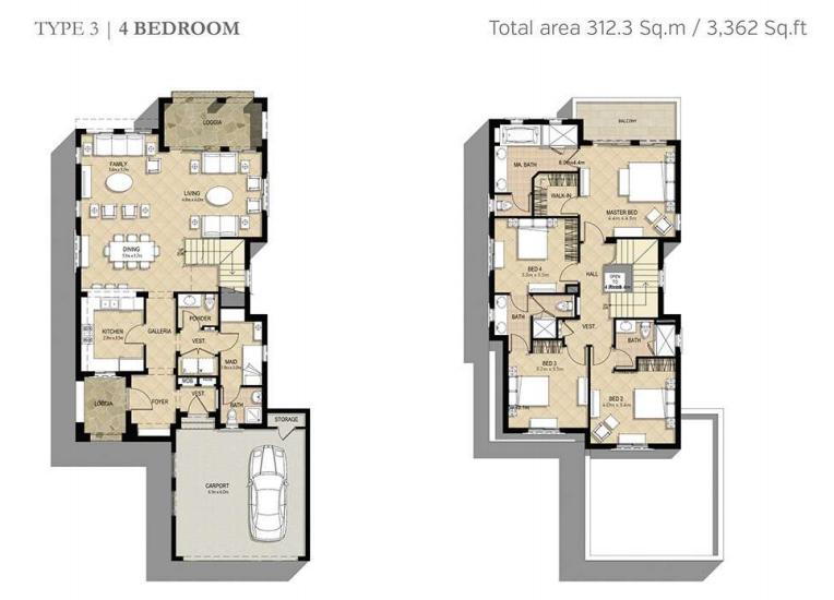 Azalea Villas Floor Plan Type 3