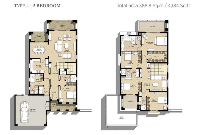 Azalea Villas Floor Plan Type 4