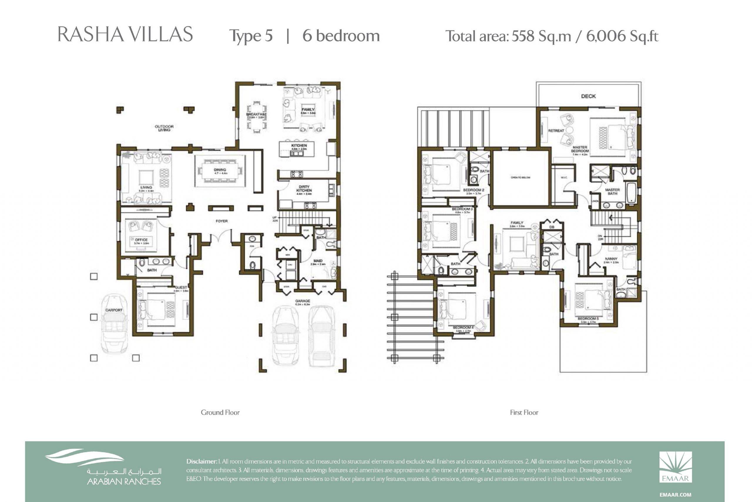 Rasha Villas Floor Plan 6BR