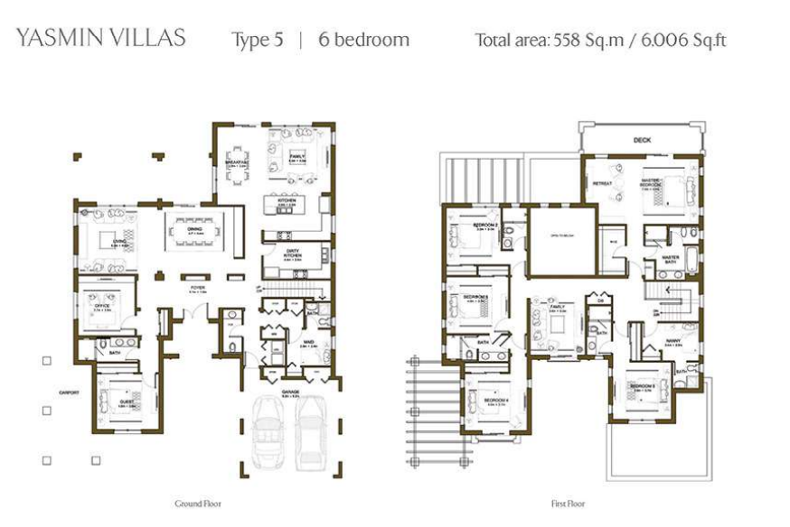 Yasmin Villas Floor Plan Type 5