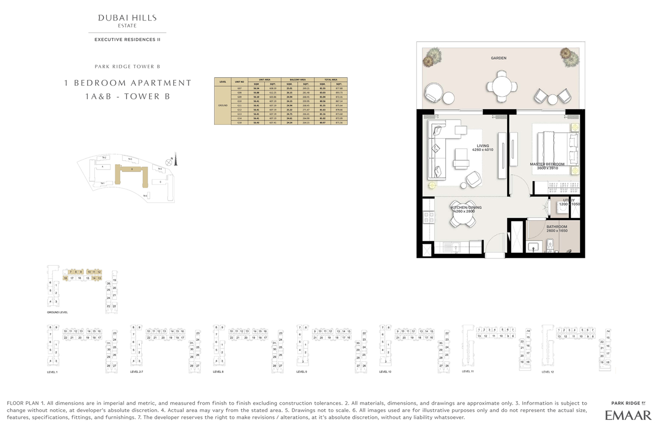 1 Bedroom- Floor Plan