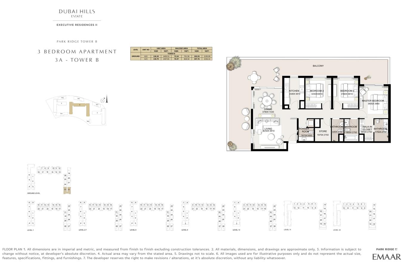 3 Bedroom- Floor Plan
