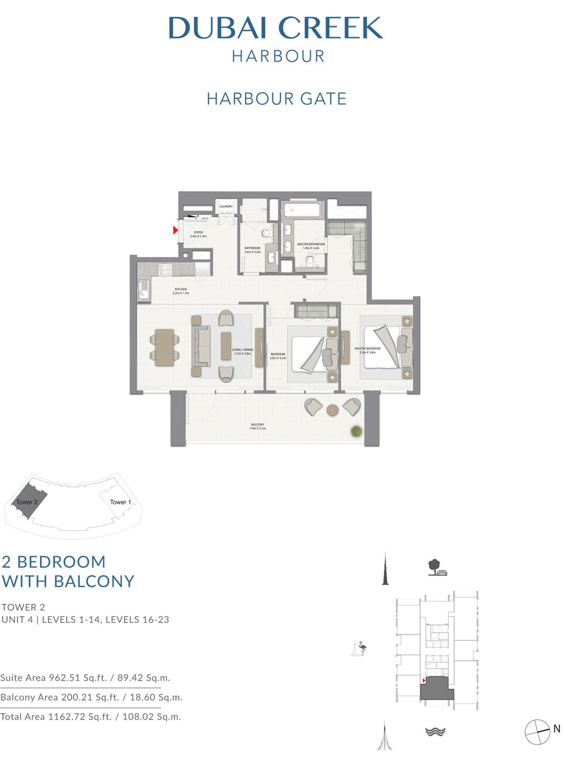 2 Bedroom Tower 2