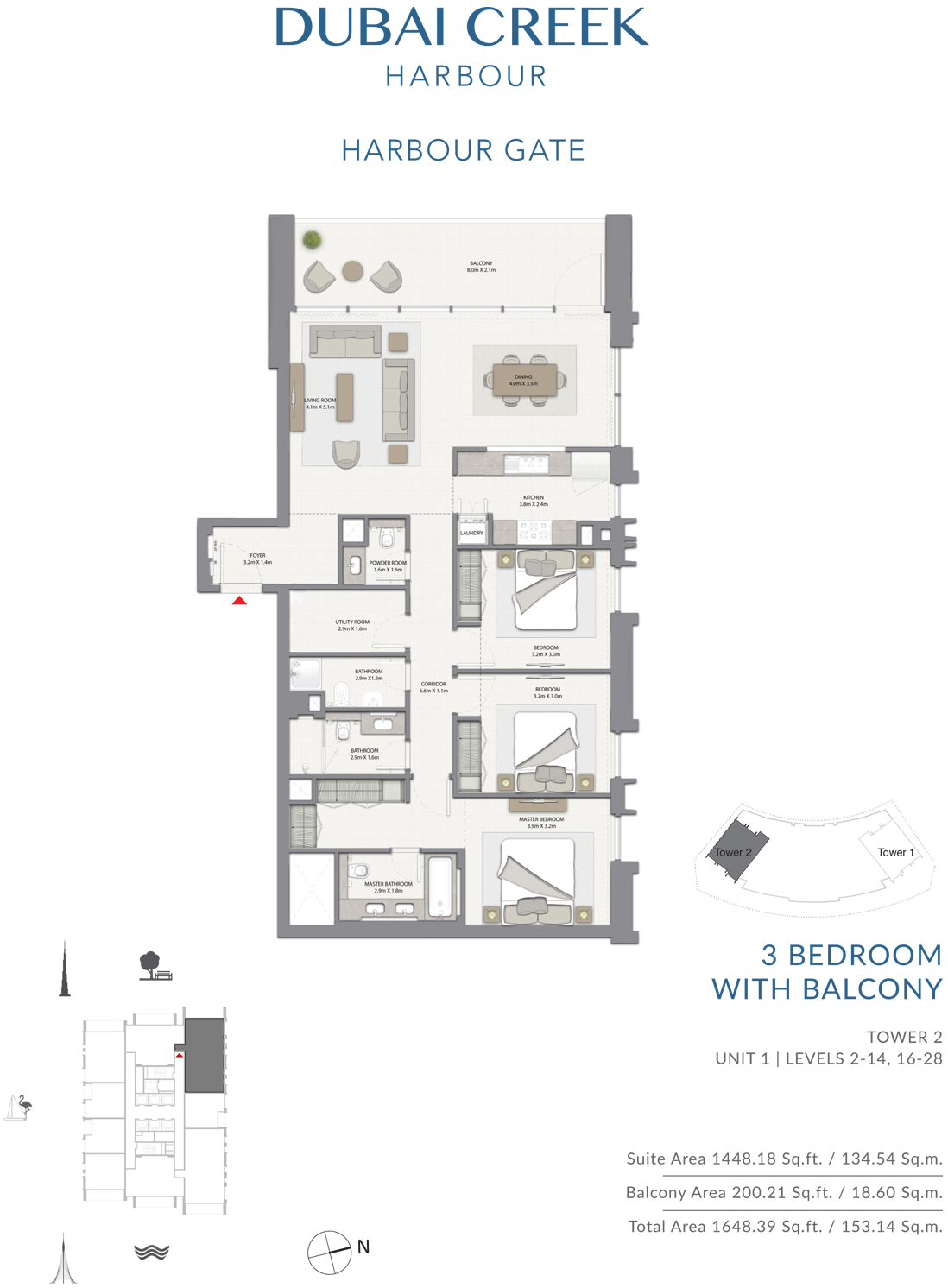 3 Bedroom Tower 2