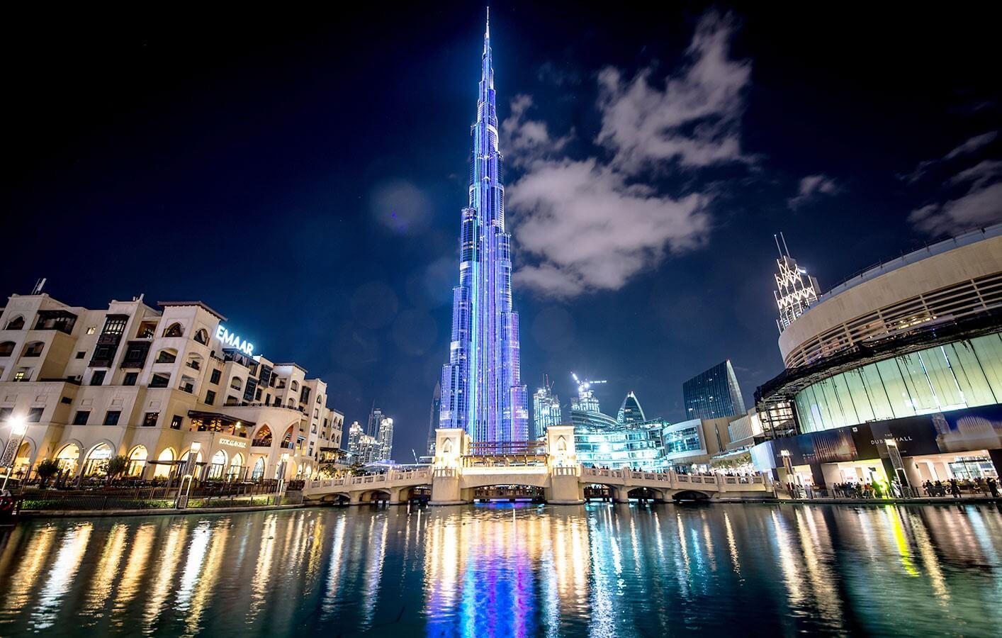 Burj Khalifa Dubai Outdoor Night View