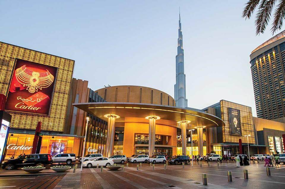 Outside of Dubai Shopping Mall