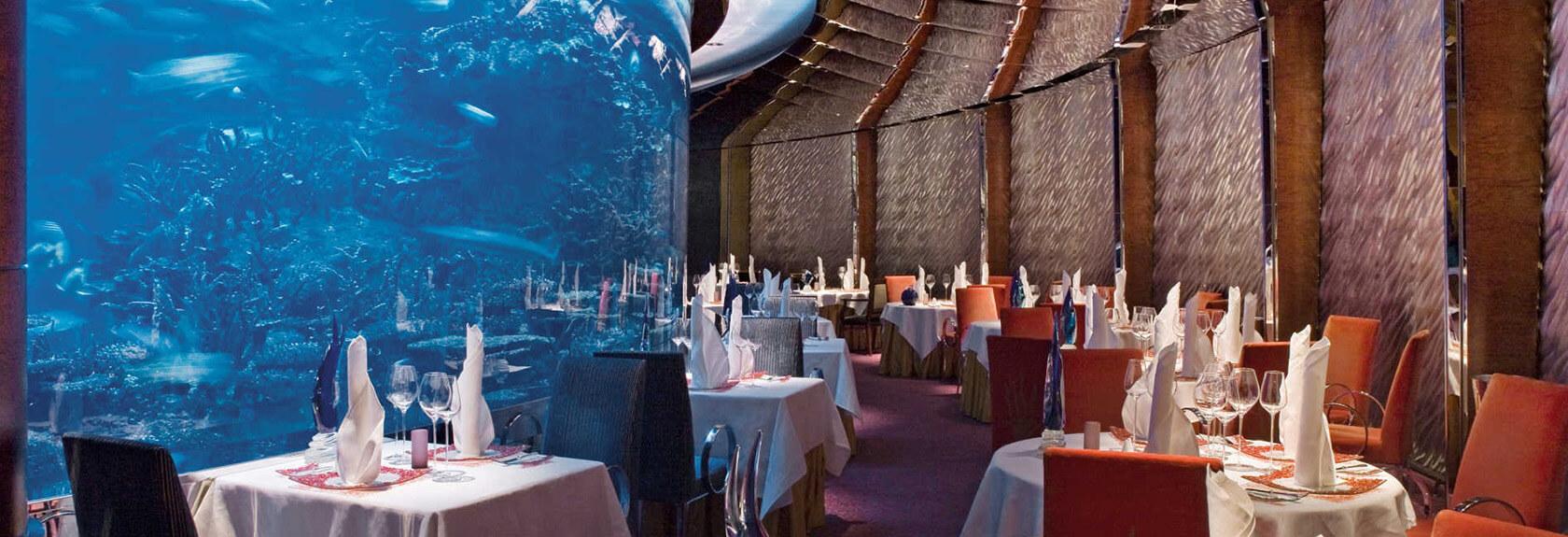 Restaurants in Burj al Arab hotel
