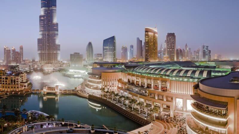 Dubai Shopping Mall view