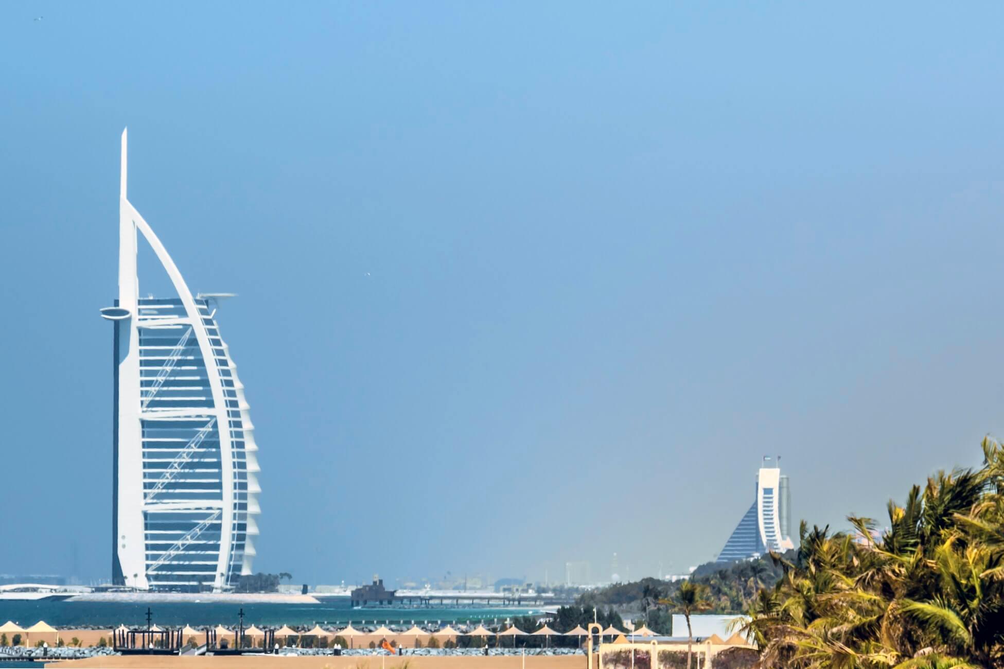 Burj al Arab Hotel beach view