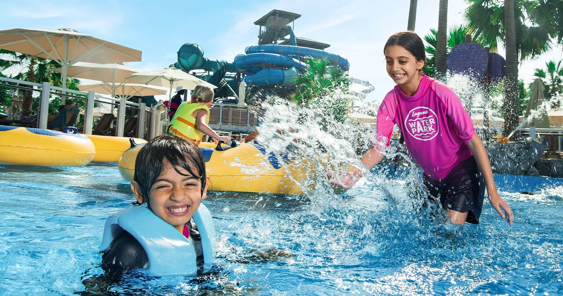 Kids Having fun at Laguna Waterpark
