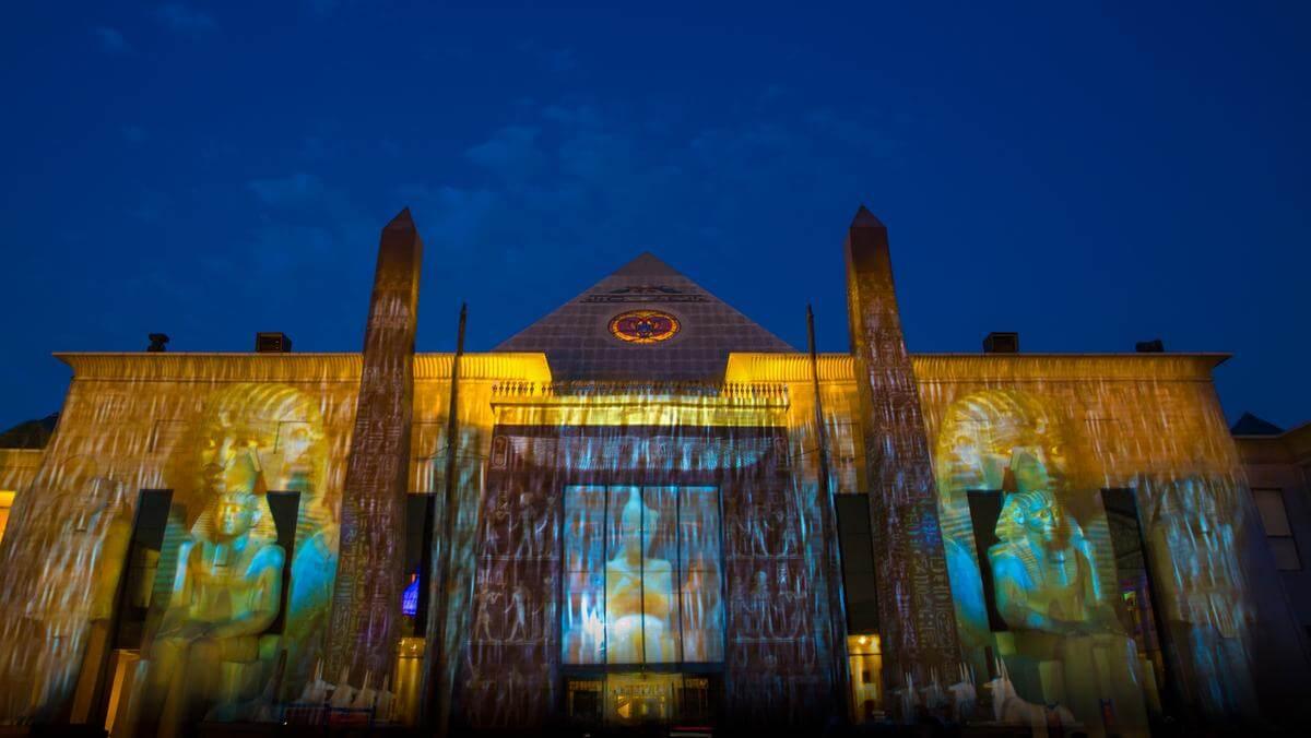 Night view of Al Wafi Mall