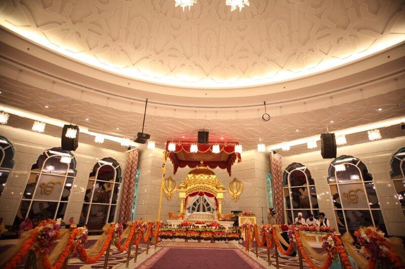 Inside of Guru Nanak Darbar Dubai