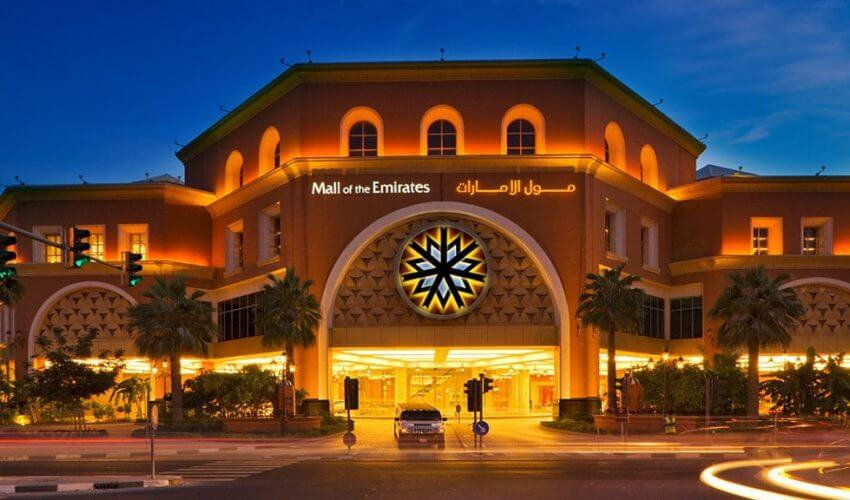Exterior of Mall of Emirates Dubai